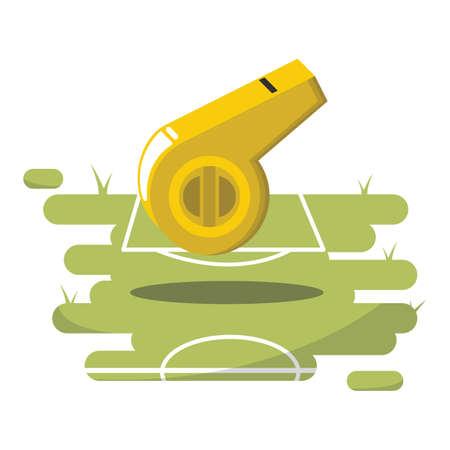 arbitro: silbato de árbitro Vectores