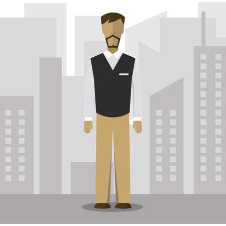 attire: businessman in smart casual wear