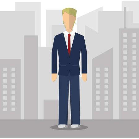 formal attire: businessman in formal attire