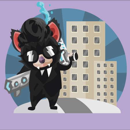 devil ray: tasmanian devil secret agent Illustration