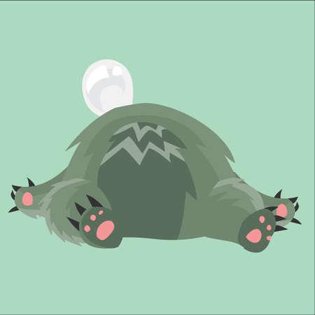 wombat: wombat dormir Vectores