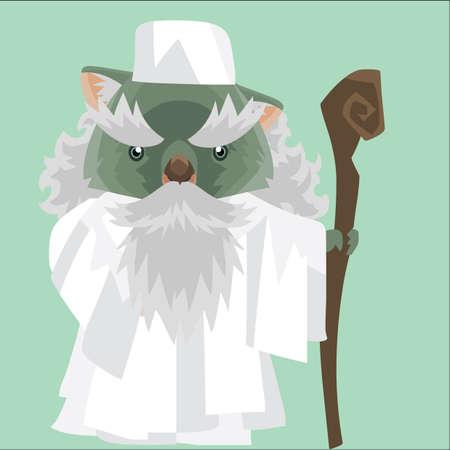 wombat: wombat como un líder religioso Vectores