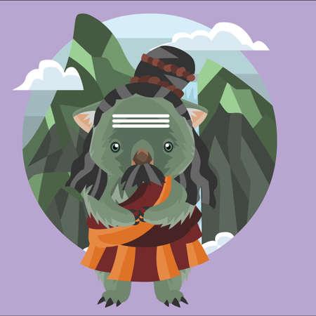 wombat: wombat con el traje tradicional