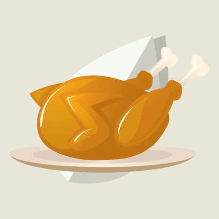 roast turkey: roast turkey Illustration
