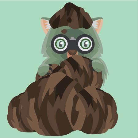 wombat: wombat espionaje de un montón de tierra Vectores