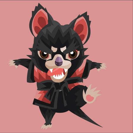 tasmanian devil in martial arts wear