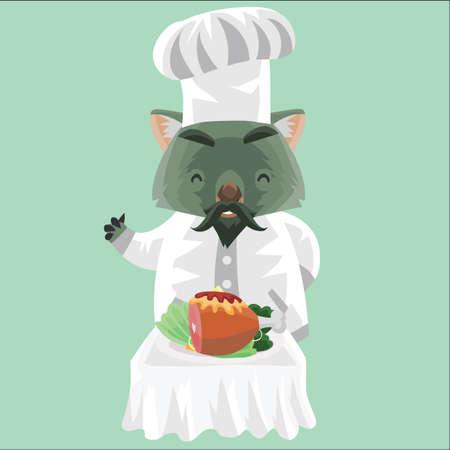 wombat: cocinero wombat