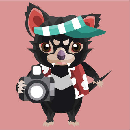 visor: tasmanian devil tourist Illustration