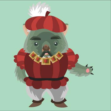 wombat: wombat en la ropa del renacimiento