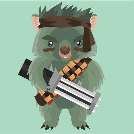bravery: wombat fighter