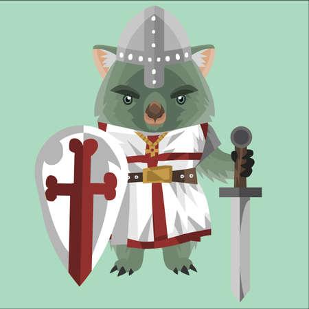 medieval warrior: wombat medieval warrior