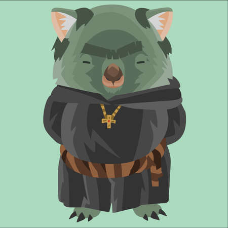 wombat: wombat como fraile