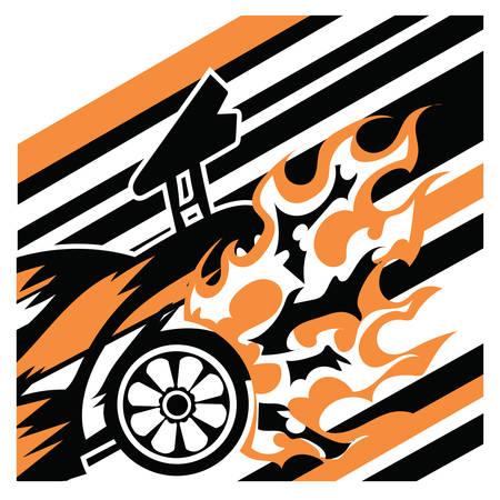 speedy: speedy car in race