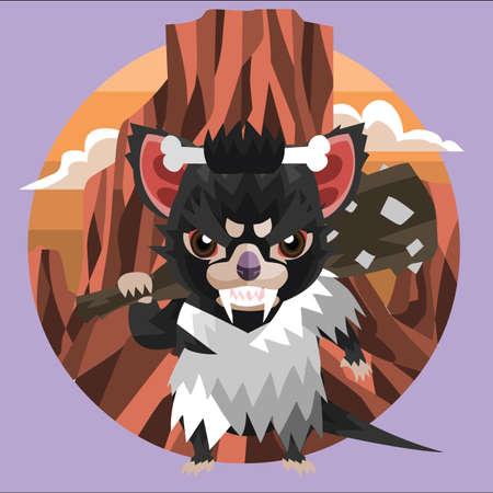 tasmanian: tasmanian devil caveman