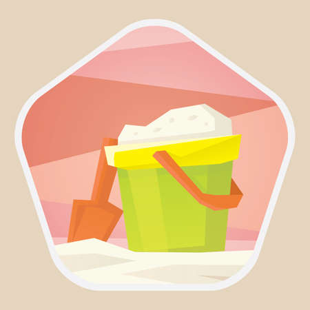 bucket and spade: sand in bucket and spade