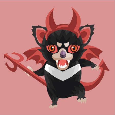 tasmanian: tasmanian devil in devil costume