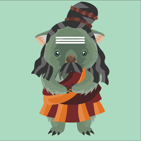 wombat: wombat in traditional costume