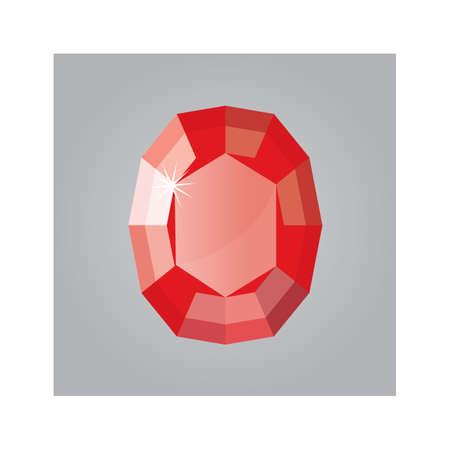 ruby stone: gem stone Illustration