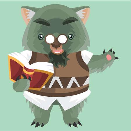 bookworm: wombat bookworm Illustration