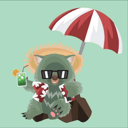 wombat: wombat en un día festivo