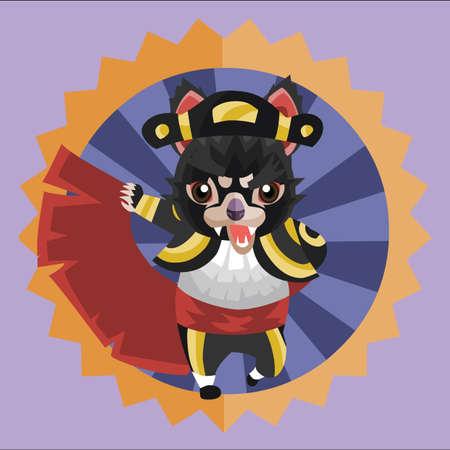 the matador: tasmanian devil as a matador Illustration