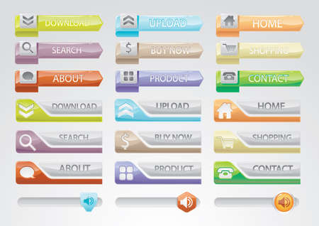 web buttons: web interface buttons