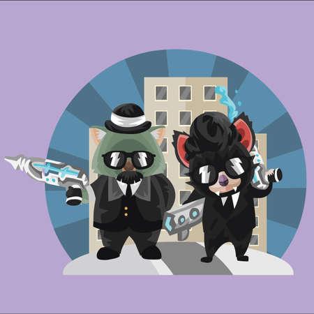 devil ray: wombat and tasmanian devil secret agents