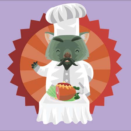 wombat: wombat como cocinero