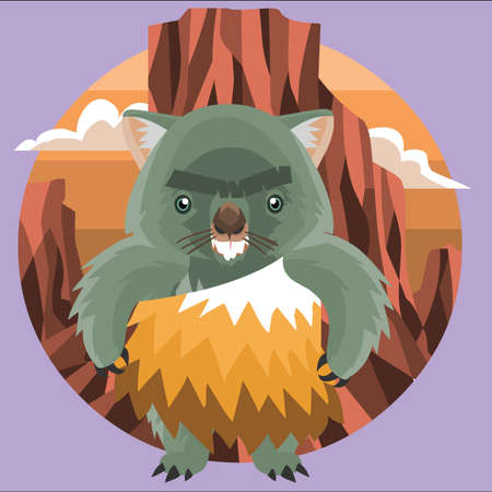 wombat: hombre de las cavernas wombat Vectores