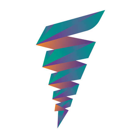 whirlwind: abstract icon Illustration