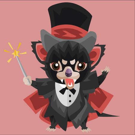 tasmanian: tasmanian devil as a magician Illustration