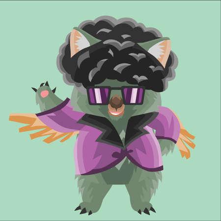 wombat: wombat en traje de discoteca