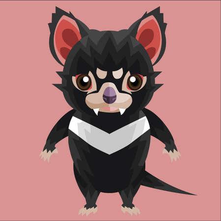 tasmanian: tasmanian devil character Illustration
