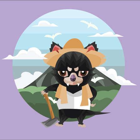 tasmanian: tasmanian devil farmer