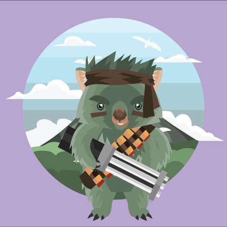 wombat: combatiente del wombat