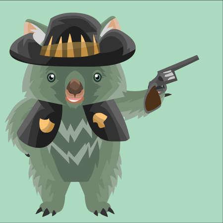 wombat: sheriff wombat Vectores