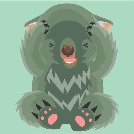 beschämt wombat Vektorgrafik