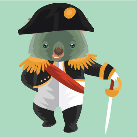 wombat: wombat in french military costume