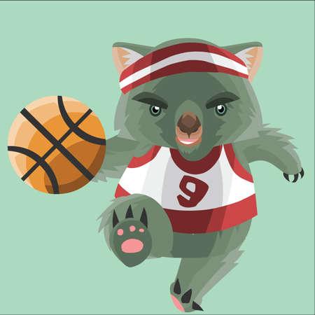 cintillos: jugador de baloncesto wombat