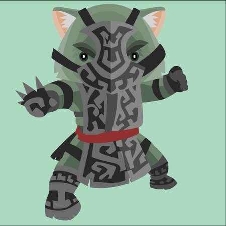 wombat: wombat samurai Vectores