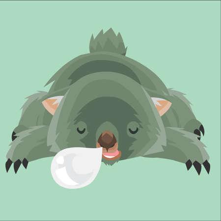 wombat: dormir wombat Vectores