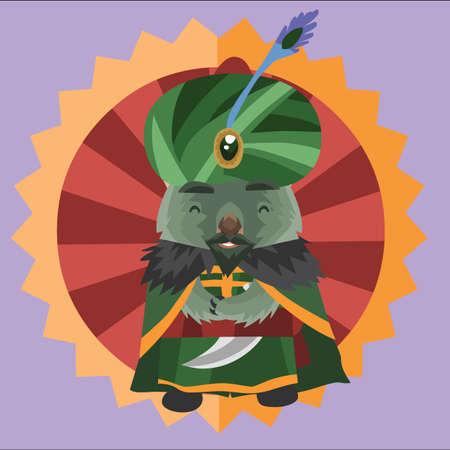 wombat: wombat como sultán árabe