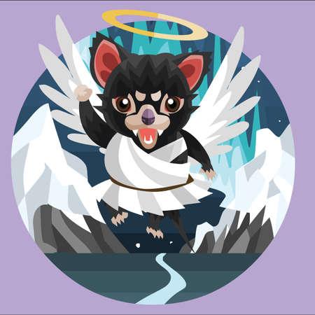 teufel engel: Tasmanischer Teufel Engel Illustration
