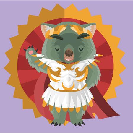 wombat: wombat como un rey romano
