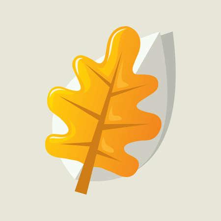 yellow: yellow autumn leaf