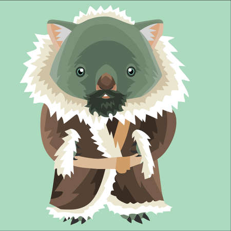fur coat: wombat eskimo