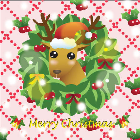 x mas card: christmas reindeer greeting
