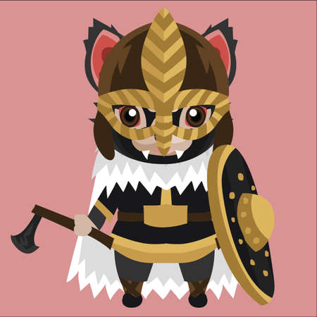 tasmanian devil in tribal armour