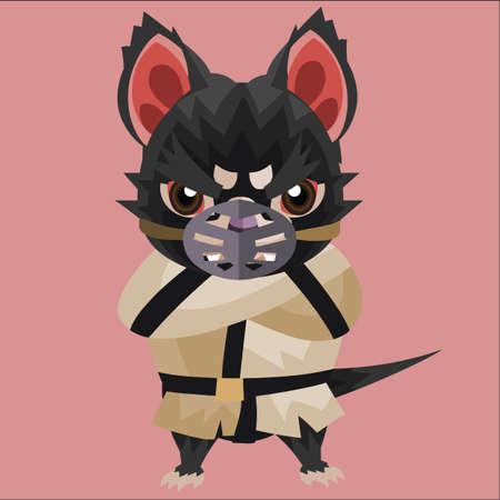 tasmanian: tasmanian devil in restrained suit Illustration