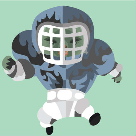sports jersey: rugby wombat player